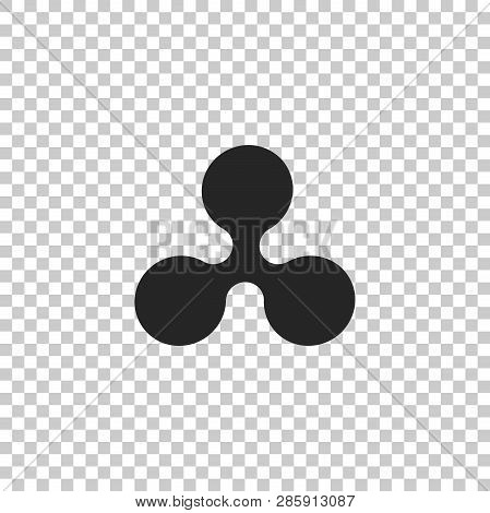 Cryptocurrency Coin Ripple Xrp Icon Isolated On Transparent Background. Physical Bit Coin. Digital C