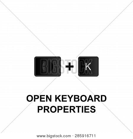 Keyboard Shortcuts, Open Keyboard Properties Icon. Can Be Used For Web, Logo, Mobile App, Ui, Ux On