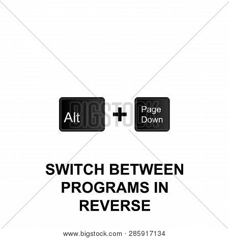 Keyboard Shortcuts, Switch Between Programs In Reverse Icon. Can Be Used For Web, Logo, Mobile App,