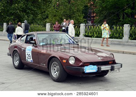Moscow, Russia -  June 25, 2017: Datsun 280z At The Start Of The Rally Of Vintage Cars In Moscow
