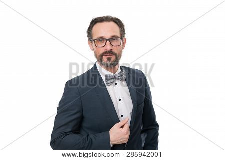 Businessman In Formal Suit. Man Lawyer. Male Fashion In Business Office. Confident Brutal Man Lawyer