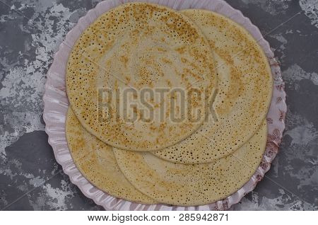 Pancakes From Spelled Flour Without Eggs For Breakfast