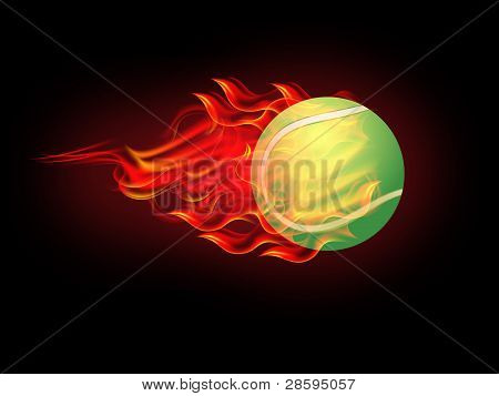 Tennis Ball On Fire