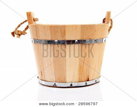 Wooden Bucket For Spa Or Sauna