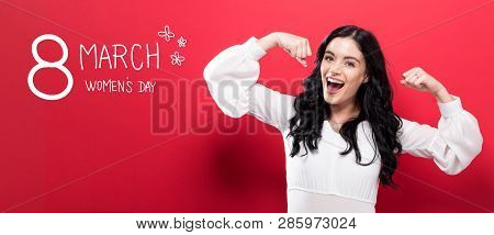Womens Day Message With Powerful Young Woman