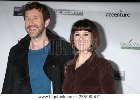 LOS ANGELES - FEB 21:  Chris O'Dowd, Dawn O'Porter at the 2019 Oscar Wilde Awards at the Bad Robot on February 21, 2019 in Santa Monica, CA