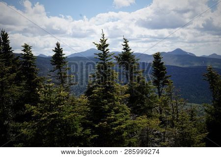 The Tree Lined Mountain Tops Of Upstate New York
