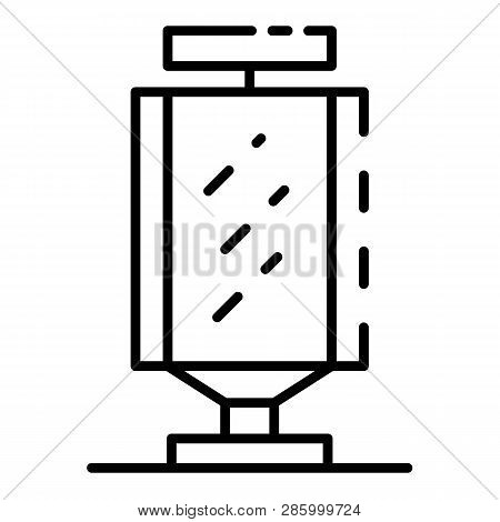City Lightbox Icon. Outline City Lightbox Vector Icon For Web Design Isolated On White Background