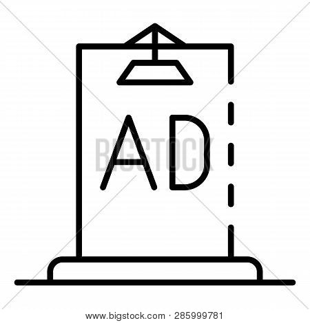 Ad City Lightbox Icon. Outline Ad City Lightbox Vector Icon For Web Design Isolated On White Backgro