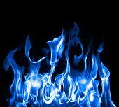Beautiful stop-motion photo of blue flames XXL file poster