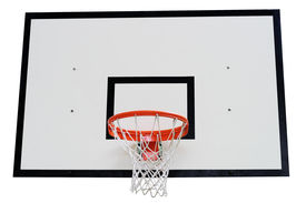 Basketball Hoop Against White