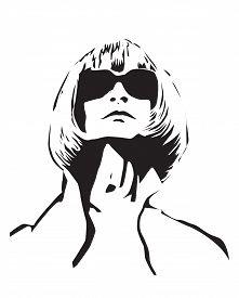 Feb 21: Us Vogue Chief Editor Anna Wintour Black Vector Portrait On Background