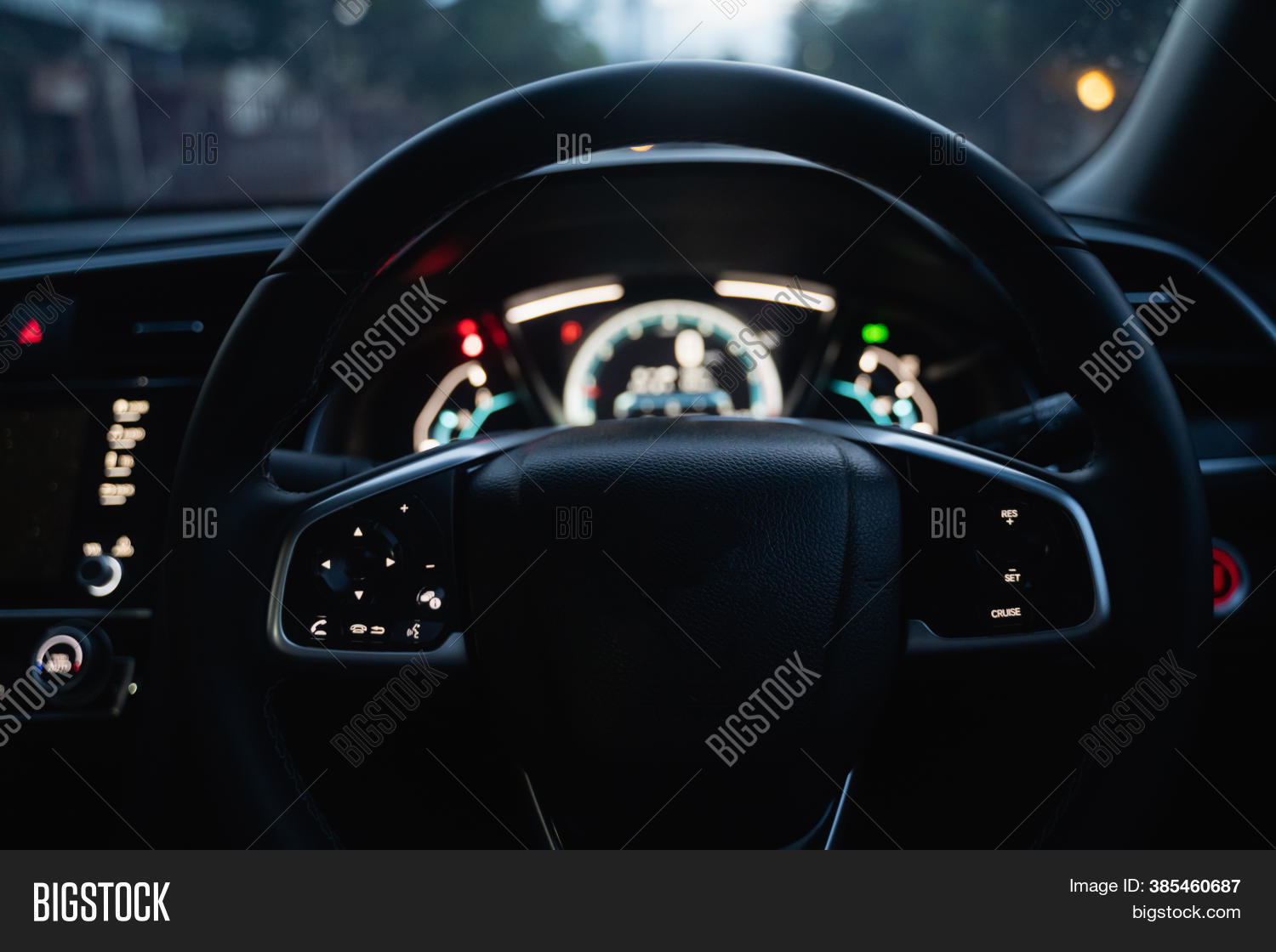 Interior Car Steering Image Photo Free Trial Bigstock