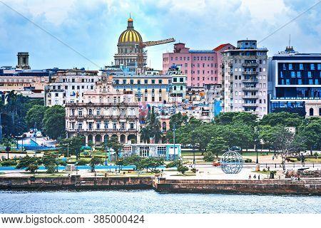 Havana, Cuba: The Downtown Skyline With Capitol