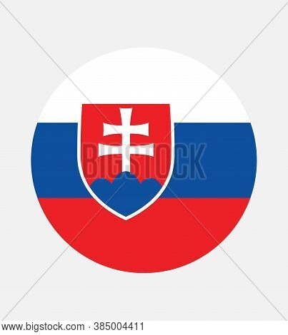 National Slovakia Flag, Official Colors And Proportion Correctly. National Slovakia Flag. Vector Ill