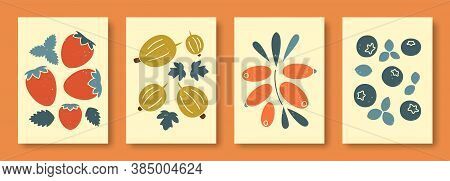Abstract Still Life In Pastel Colors Vector Illustration. Collection Of Contemporary Art. Vector Set
