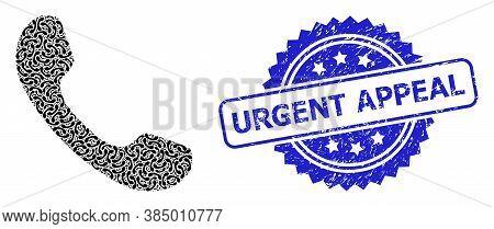 Urgent Appeal Unclean Seal Imitation And Vector Recursive Mosaic Telephone. Blue Seal Includes Urgen