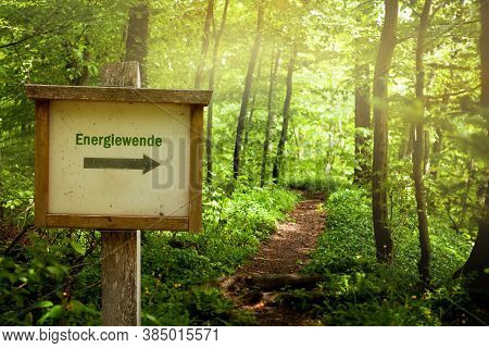 Energy U-turn - Concept With The German Word \