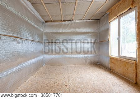 Thermal Insulation Of A Country House, Vapor Barrier Film Made Of Reflective Polyethylene Foam Lamin