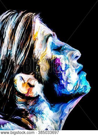Colorful Abstract Female Portrait