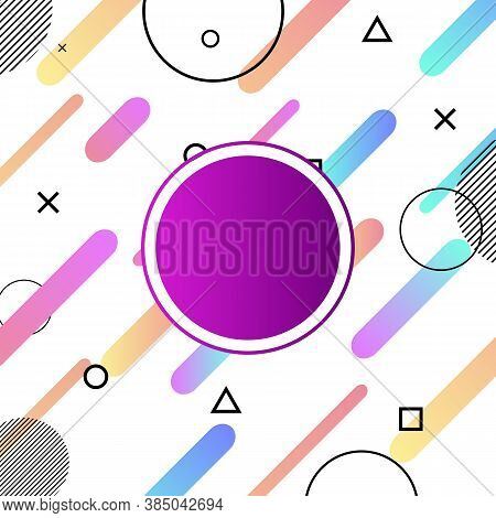 Abstract Colorful Shapes Compositions Background With Memphis Style, Stock Vector