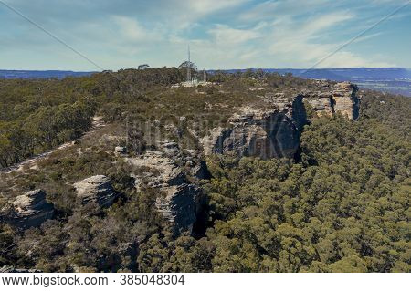 A Communications Tower On A Small Mountain In The Township Of Lithgow In The Central Tablelands Of N