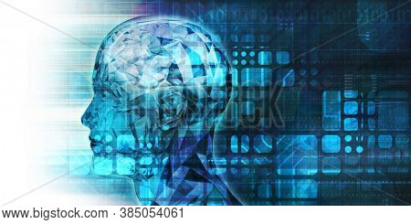 Medical Abstract Background with Science Theme Abstract 3d Render