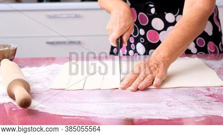 Dough Preparation Process For Khachapuri Preparation. High Quality 4k Footage