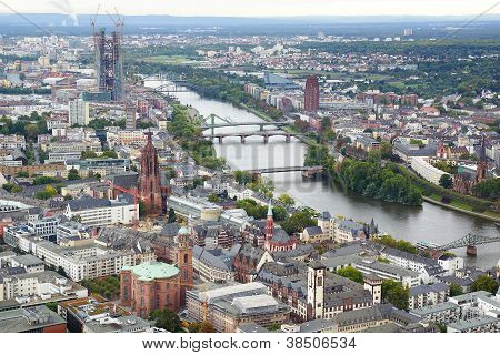 View from the Maintower in Frankfurt am Main. poster