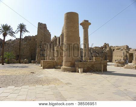 Historic Karnak Temple Ruins Egypt Thebes