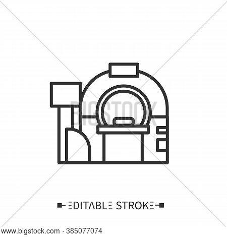 Tomography Line Icon.brain Examination. Cancer Prevention. Modern Medicine Equipment. X-ray Diagnost