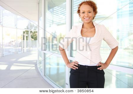 Confident Business Woman At Office