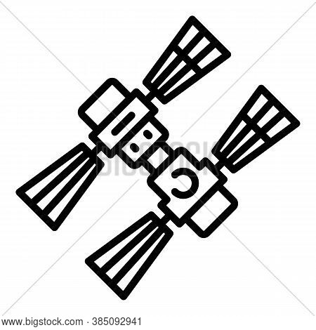 Orbit Space Station Icon. Outline Orbit Space Station Vector Icon For Web Design Isolated On White B
