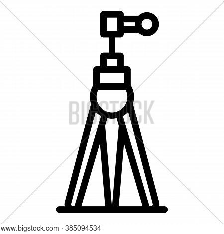 Tripod Support Icon. Outline Tripod Support Vector Icon For Web Design Isolated On White Background