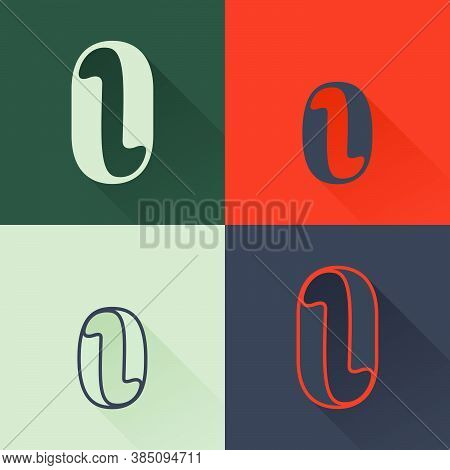 Classic O Letter Logo Set In Renaissance Style. Four Style Condensed Serif Font. Perfect To Use In A