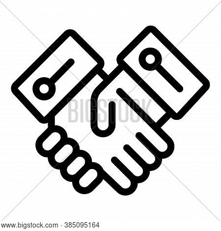 Standard Handshake Icon. Outline Standard Handshake Vector Icon For Web Design Isolated On White Bac