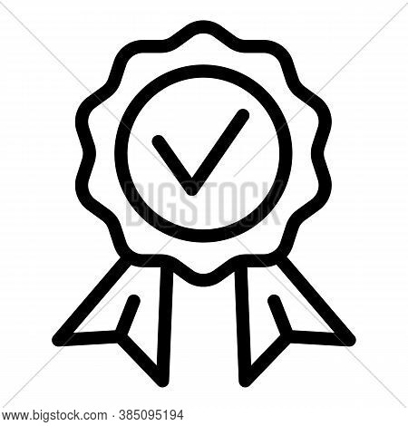 Approved Standard Icon. Outline Approved Standard Vector Icon For Web Design Isolated On White Backg