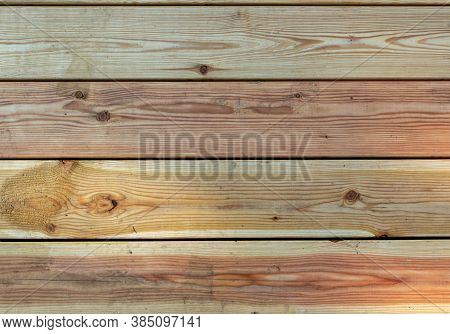 Light Wooden Boards Background. Texture Of Light Wooden Boards. Light Brown Wooden Planks Surface, P