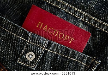 Red Passort And Jeans