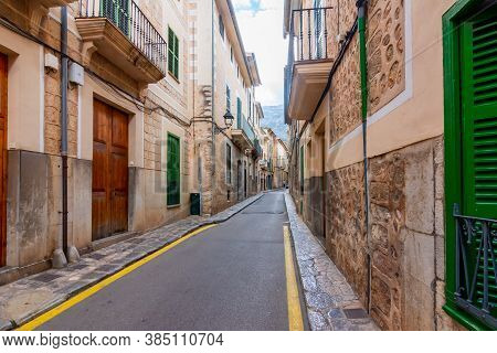Architecture And Narrow Streets Of Soller, Mallorca Island, Spain