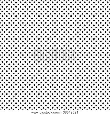 Seamless Black & White Dots