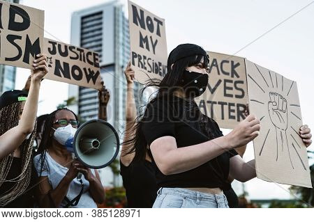 Activist Movement Protesting Against Racism And Fighting For Equality - Demonstrators From Different