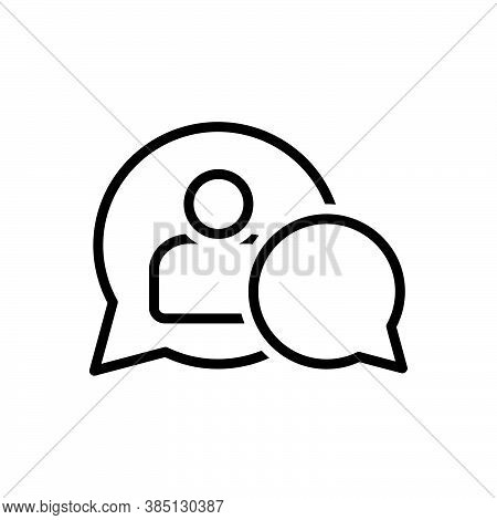 Black Line Icon For Moderate Cautious Abate Assistant Admin Customer Dispatch Frame Communication Co