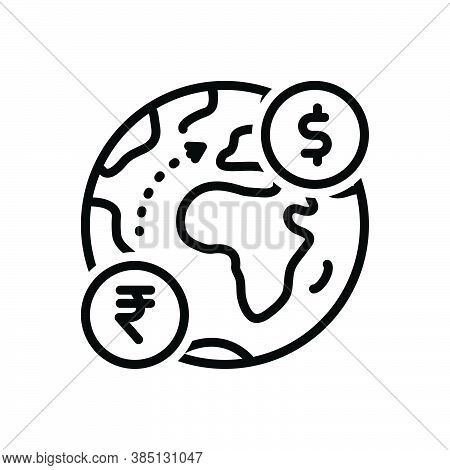 Black Line Icon For Foreign Foreign-country International External Outside Abroad Overseas Exotic