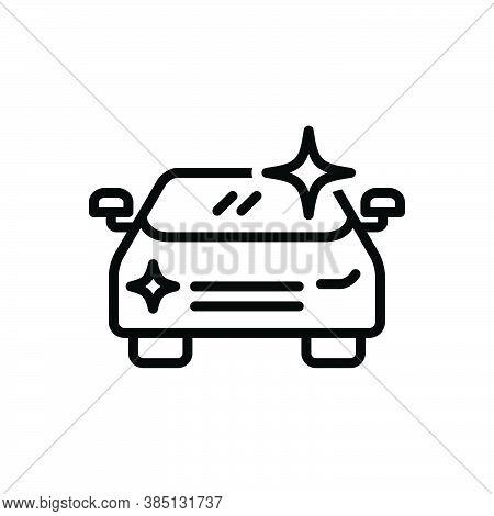 Black Line Icon For Shine Car-polish Glow Glare Glitter Luster Sparkle Polish Cleaning