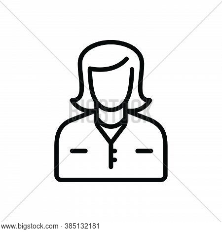 Black Line Icon For Mom Mummy Female Parent Mother Mommy Lady