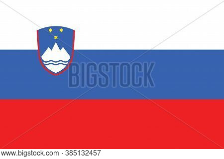 National Slovenia Flag, Official Colors And Proportion Correctly. National Slovenia Flag.