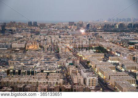 Dubai, Uae - November 15: View Of Old Dubai From The Observation Deck On The Dubai Frame In Dubai, U