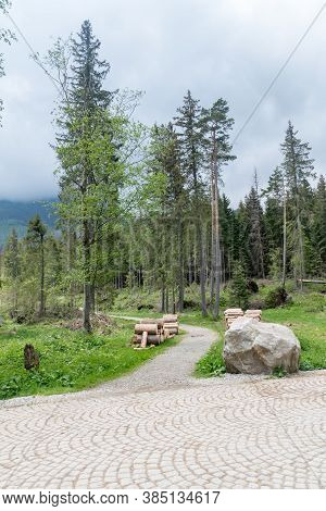 Path In Tatra National Park In Poland.