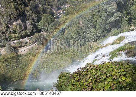A Glimpse Of The Falls Marmore, Terni - Italy